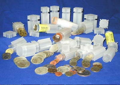 CoinSafe Square Coin Tubes all Liberty  Barber  Mercury & Roosevelt Dime Coins