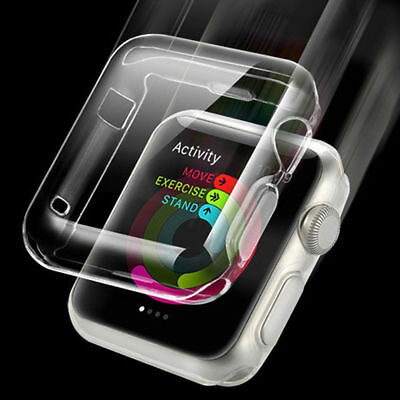 Soft Clear Case Cover Protector For i Watch Apple Watch Series 3/2/1 38/42mm USA