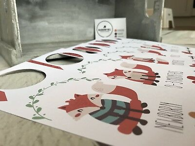 Pack Of 6 - Baby Wardrobe Or Closet Dividers - Baby Shower Gift - Fox Theme