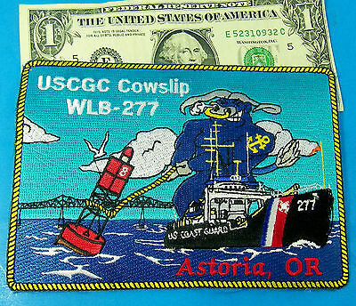 USCGC Cowslip WLB-277 PATCH, U.S. COAST GUARD Astoria,OR  HUGE 6'' ACROSS #N