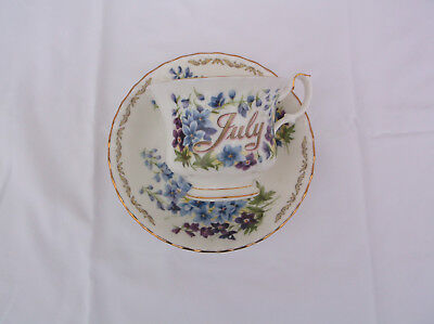 JULY bouquet of the month bone china cup/saucer by Golden Crown E & R