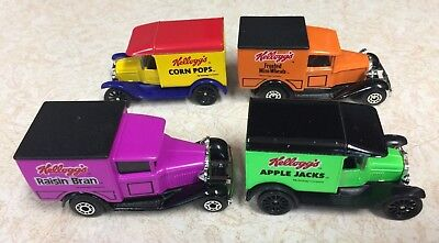 Lot 4 Kellogg's Cereal Die Cast Delivery Trucks All Different MINT Collectibles