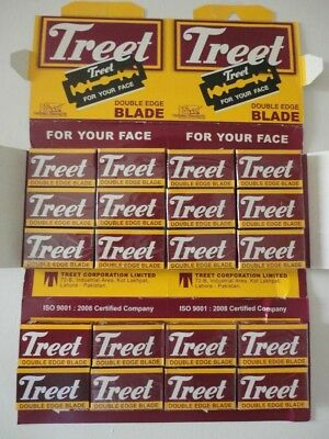 100 Treet Carbon Steel Double Edge DE Razor Blades £ 7.99