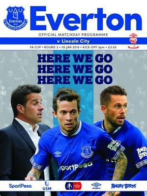 * 2018/19 - EVERTON v LINCOLN CITY (FA CUP - 5th January 2019) *