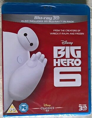 Disney Big Hero 6 3D (Blu-ray 3D+2D) (Region Free) (New Sealed) - Ships from USA