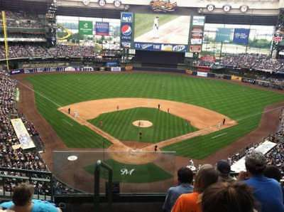 1-4 Seattle Mariners @ Milwaukee Brewers 2019 Tickets! 6/25/19 Sec 420 Row 12!