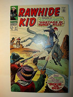 Rawhide Kid #67 NM-,1968, Marvel Western comic, Larry Lieber &Roy Thomas