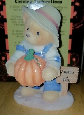 NEW Cherished Teddies - Ed - With Pumpkin Carving Kit - 466220