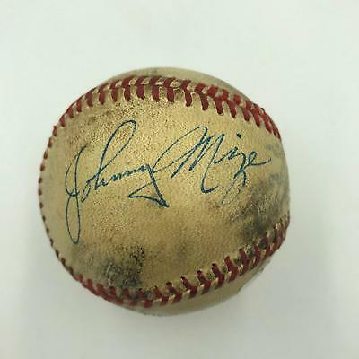 Incredible 1947 Johnny Mize Signed Game Used Baseball Letter From Aunt JSA COA