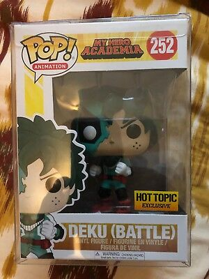 Funko Pop New Battle Deku Hot Topic My Hero Academia Exclusive.With Protector