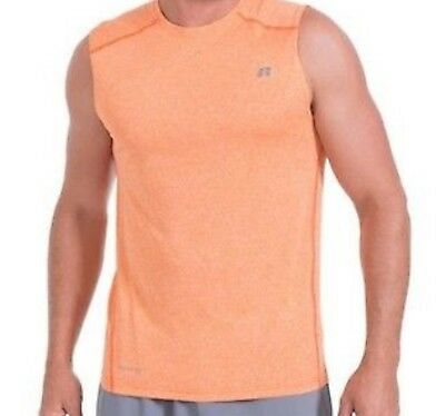 Russell Athletic Mens Dry Power 360 Muscle Tee Tank Top - Orange Sizes S-3Xl Nwt
