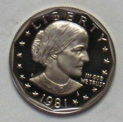 1981 S Proof Type 1 Susan B. Anthony Dollar