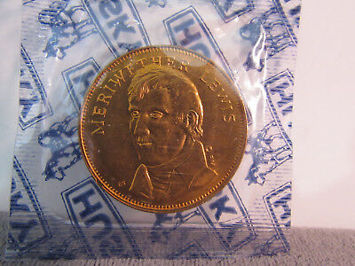 Uncirculated MERIWETHER LEWIS  Rugged Americans Coin Franklin Mint SEALED