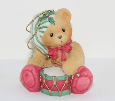 NEW Cherished Teddies - Christmas Ornament - 546550 - Drummer Boy 1st In Series