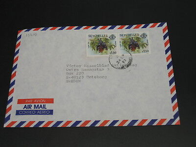 Seychelles 1983 airmail cover to Sweden *13398