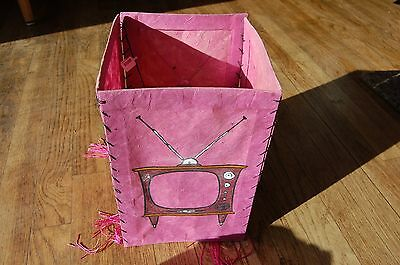 Classic Retro Pink Paper Hanging Lantern 50s Design: Never Used- from Retail