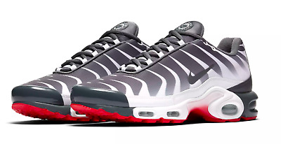 "Nike Air Max Plus TN SE ""Before The Bite"" Gray Black Red AQ0237-100 Men's Size 9"