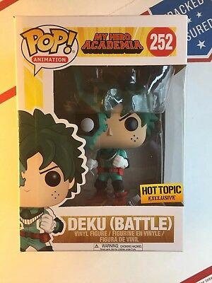 Funko Pop! Anime: My Hero Academia - Deku (Battle) #252 - Free Fast Shipping !!!