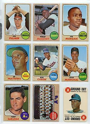 1968 68 Topps Lot YOU PICK SINGLES 50 cents/selection-COMPLETE YOUR SET 7/18/19