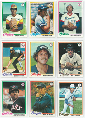 1978 78 Topps Lot YOU PICK SINGLES 25 selections / $2 - COMPLETE YOUR SET! 1/10