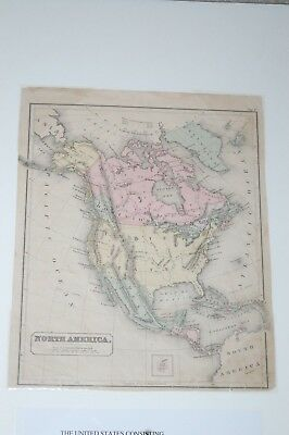 Antique Map United States, Thirty-Eight States, Ten Territories & District Of Co