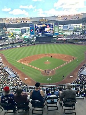 1-2 Philadelphia Phillies @ Milwaukee Brewers 2019 Tickets 5/26/19 Sec 422 Row 8