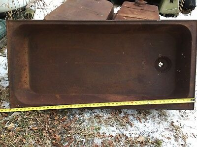 ANTIQUE LAUNDRY SINK Trough BASIN N&N MFG CO BANGOR Me Heavy  23x48 STAR corners