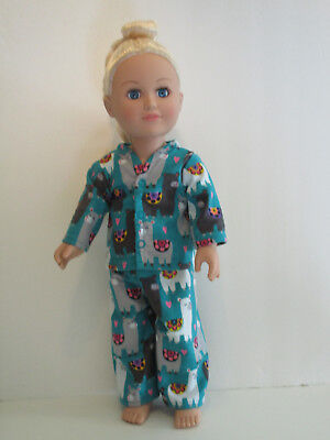 "Llamas/Dark Teal Pajamas 18"" Doll Clothes American Girl"