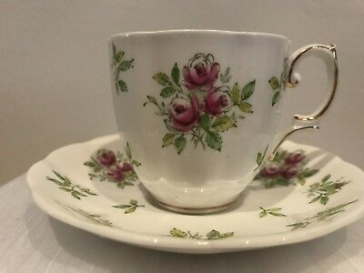 "Royal Albert ""Rose"" Bone China Tea Cup And Saucer  Made In England"