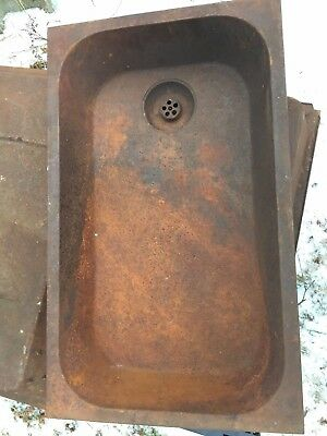 ANTIQUE  LAUNDRY SINK Trough  Heavy  18 x 30 Bangor Me