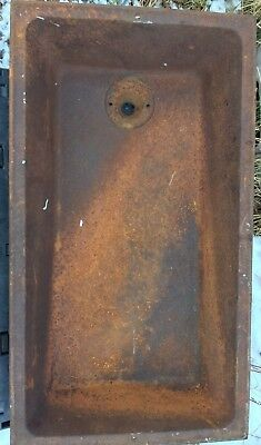 ANTIQUE Cast Iron  LAUNDRY SINK Trough  Heavy  20x36