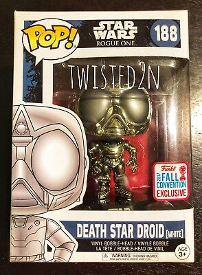 Funko Pop Star Wars Rogue One #188 White Death Star Droid NYCC 2017 Exclusive