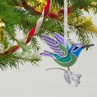2018 Hallmark HUMMINGBIRD Green SURPRISE Mystery ORNAMENT
