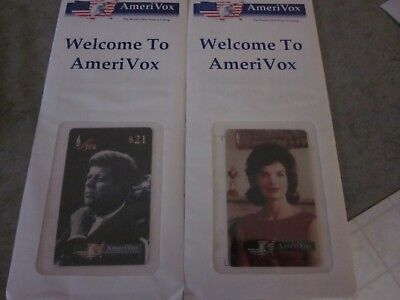 John F. Kennedy and Jackie Onassis Kennedy phone cards, lot of 2, 1994