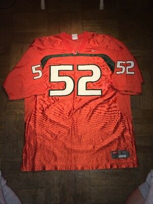 VINTAGE NIKE UNIVERSITY of Miami Hurricanes  52 Ray Lewis Football ... 769de0539