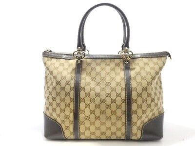 dcfe22b20b3 GUCCI RAMBLE REVERSIBLE Tote GG Canvas and Leather Large -  925.00 ...