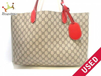 8fee0fc1161 GUCCI tote bag reversible GG Leather Medium 368568 beige brown PVC