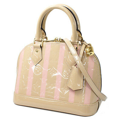 30a9ce9c536b S LOUIS VUITTON Alma BB 2Way handbag shoulder bag SN time beige Vernis 2018  (N96