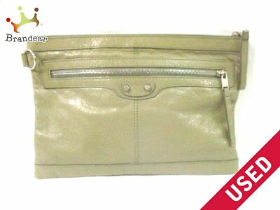 381f1aac98 AUTHENTIC BALENCIAGA CLASSIC Clip M Suede Leather Clutch Hand Bag ...