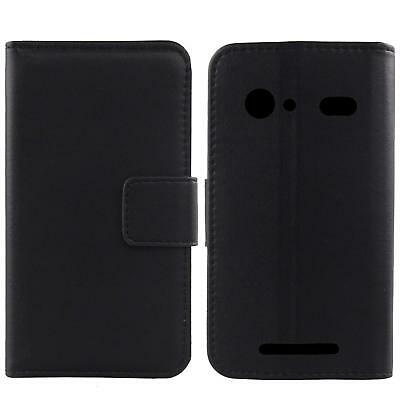 For Doro 8040 / 8042 - Luxury Genuine Real Leather Flip Case Wallet Cover Phone