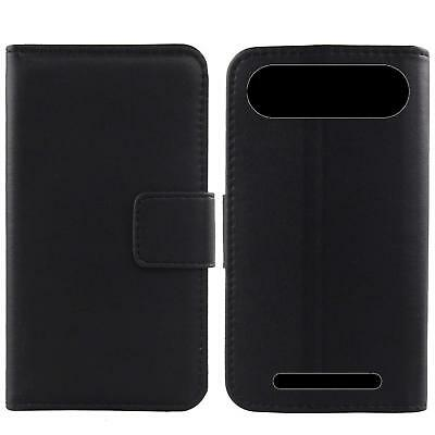 For Doro 8035 - Luxury Genuine Real Leather Flip Case Phone Wallet Cover Etui