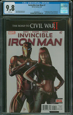 Invincible Iron Man #7 CGC 9.8 1st appearance Riri Williams becomes Iron heart