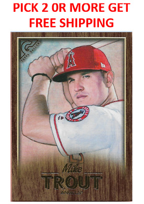 2018 Topps Gallery Baseball Canvas Wood Singles Pick 2 or more get Free Shipping