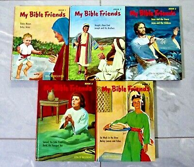 MY BIBLE FRIENDS 5 VOLUME SET Etta B. Degering ~ HC Colour Illus
