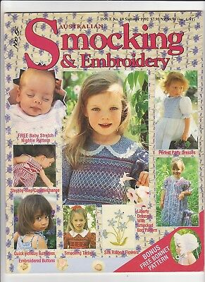 Australian Smocking & Embroidery - Issue No 19 -  Summer 1992 - Very Rare
