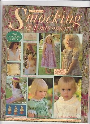 Australian Smocking & Embroidery - Issue No 20 -  Autumn 1992 - Very Rare