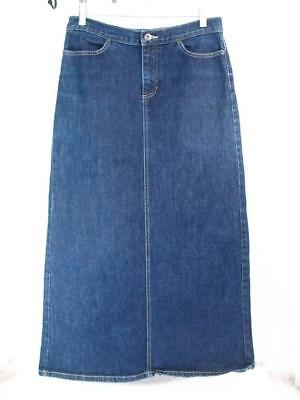 GAP Maxi SKIRT Size 6 Blue Stretch Cotton Denim Long Straight Jean
