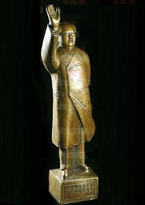 Collection Chinese Great Leader Mao Zedong Bronze Statue