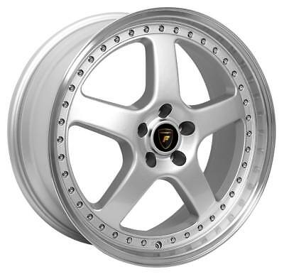 """18"""" Forge Auto Simmons Style Wheels in Silver Machined Lip suit Holden Commodore"""