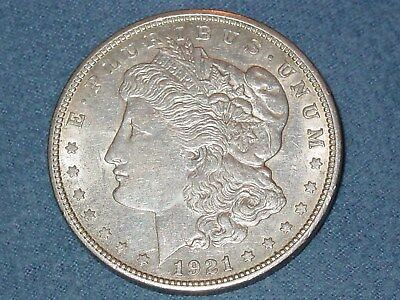 1921-D Morgan Silver Dollar Coin US Denver Mint Low Circulation VG To Exc. Or XF